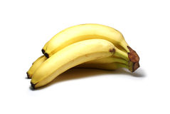 Bananas isoladas no branco imagens de stock