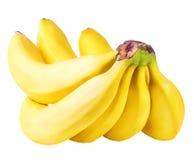 Bananas isoladas no branco Foto de Stock