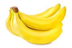 Bananas isoladas no branco Foto de Stock Royalty Free