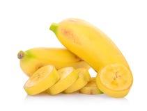 Bananas isoladas no branco Imagem de Stock