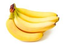 Bananas isoladas no contexto branco Fotos de Stock Royalty Free