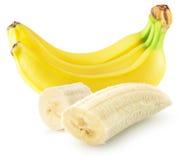 Bananas isoladas no fundo branco Imagens de Stock