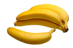 Bananas, isolated Royalty Free Stock Photo