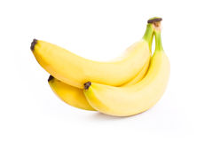 Bananas isolated on white Royalty Free Stock Photo