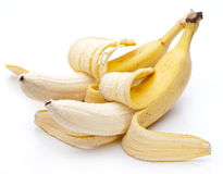 Bananas isolated on white royalty free stock photography