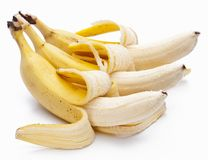 Bananas isolated on white royalty free stock images