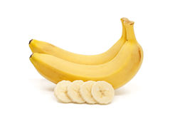 Bananas isolated on the white background.  Royalty Free Stock Images