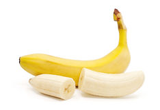 Bananas isolated on the white background.  Royalty Free Stock Photos