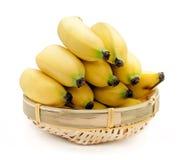 Bananas isolated on the white background.  Stock Photos