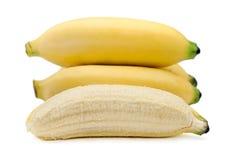 Bananas isolated on the white background.  Royalty Free Stock Image