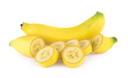 Bananas isolated on the white Stock Image