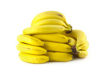 Bananas isolated on white background closeup Stock Photography