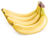 Bananas isolated on a white background. Picture is of high quality. Clipping path Royalty Free Stock Photography