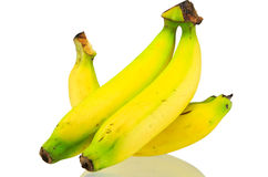 Bananas isolated on white background. Yellow bananas isolated on a white background Royalty Free Stock Image