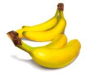Bananas isolates on White Stock Photos