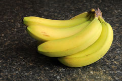 Bananas on Kitchen Counter Stock Images