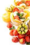 Bananas, kiwi and strawberry Royalty Free Stock Image