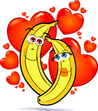 Bananas in love Royalty Free Stock Photos