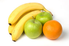 Bananas, maçãs e laranjas imagens de stock royalty free