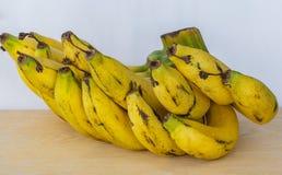 Bananas maduras do grupo Imagens de Stock Royalty Free
