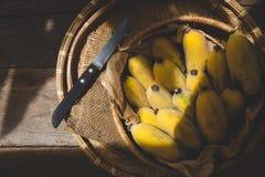 Bananas maduras frescas Fotos de Stock Royalty Free