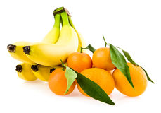 Bananas and mandarines Royalty Free Stock Images