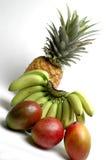 Bananas and mangoes Royalty Free Stock Photos