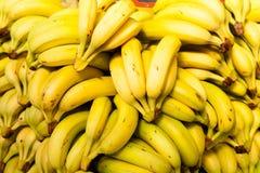 Bananas at market. Stock Photos