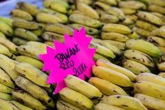 Bananas on the market Royalty Free Stock Photos