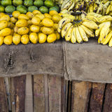 Bananas on the market Royalty Free Stock Images