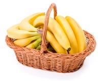 Bananas na cesta fotografia de stock