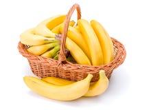 Bananas na cesta Fotos de Stock Royalty Free