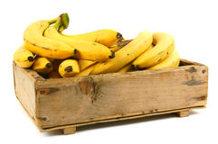 Bananas in an old box Royalty Free Stock Images