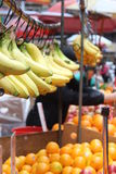 Bananas and oranges for sale Royalty Free Stock Photography
