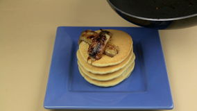 Bananas On Pancakes 1 stock footage