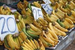 Bananas para a venda Imagem de Stock Royalty Free