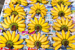 Bananas para a venda Foto de Stock Royalty Free