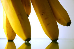 Bananas parade. Bananas are marching stock image