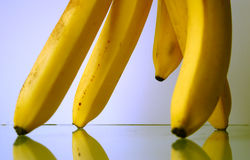 Bananas parade II. Bananas are marching Stock Photography