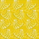 Bananas pattern Royalty Free Stock Images