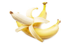 Bananas + peeled Banana Royalty Free Stock Photography