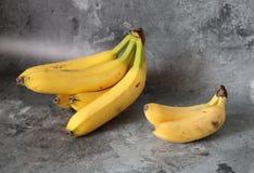 Bananas pequenas e grandes foto de stock