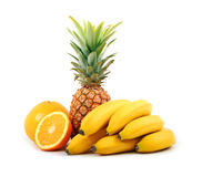 Bananas and pineapple Stock Photo