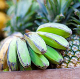 Bananas and pineapple on market Royalty Free Stock Photography