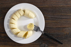 Bananas in plate Stock Photos