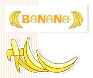 Bananas postcard Royalty Free Stock Photography