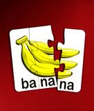 Bananas puzzle Royalty Free Stock Photos