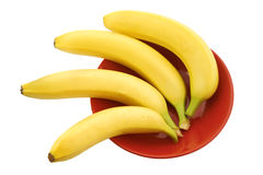 For bananas or red plate Stock Photography