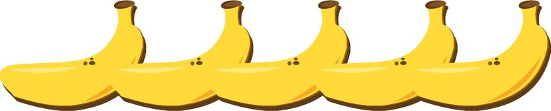 Bananas Row Royalty Free Stock Photo