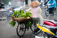 Bananas for sale in Hanoi Royalty Free Stock Image
